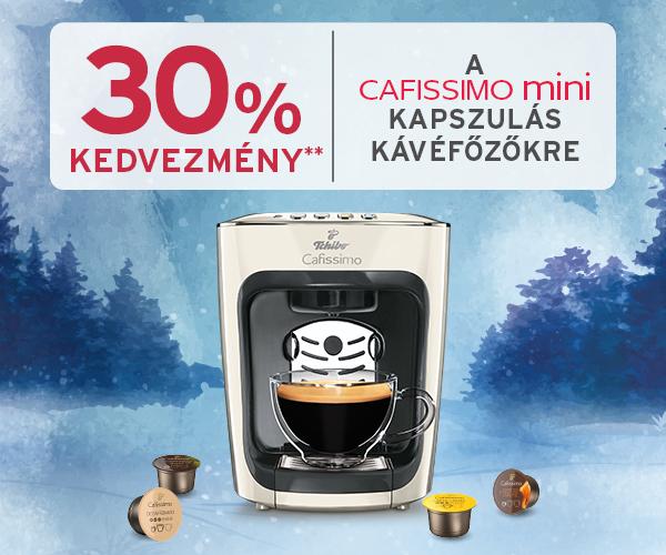 -30% Cafissimo mini kapszulás kávéfőzőkre