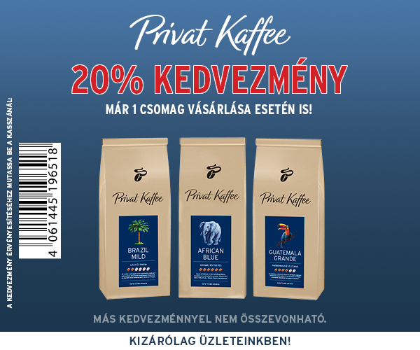 Próbálja ki Privat Kaffee kávékülönlegességeinket most kedvezményes áron!