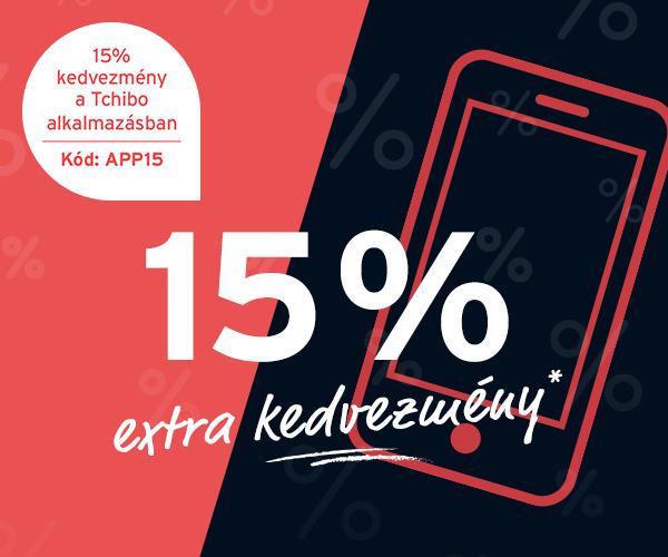 Extra 15% kedvezmény*